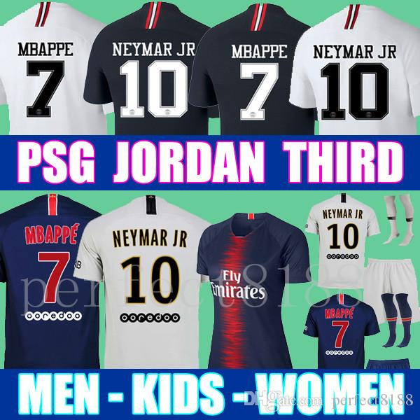 8c56d934380411 2019 Thailand Maillots PSG Soccer Jersey 2019 Paris MBAPPE Saint Germain  Jersey 18 19 Survetement Football Kit Champions Shirt Men Kids From  Perfect8188