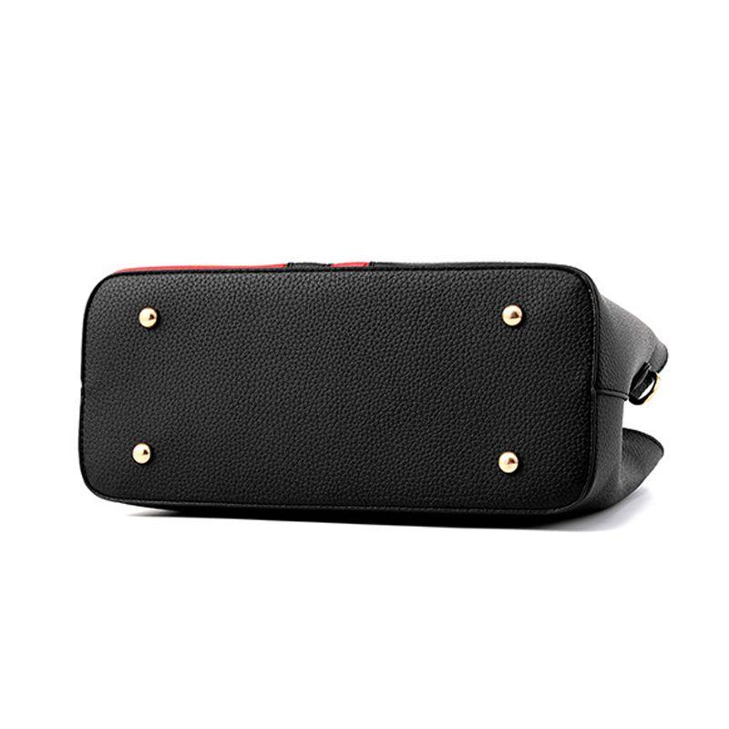 Famous design Female pu leather handbags hit color ladies handbag tassel chains rivet shoulder Messenger bag fashion package