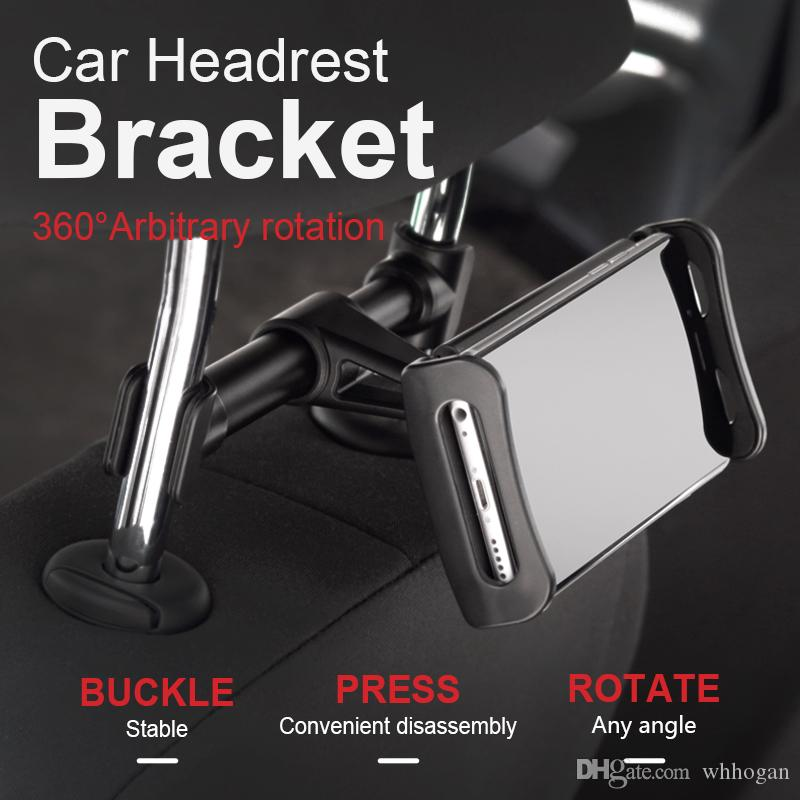 Car Backseat Headrest Phone Holder Car Headrest Mount Rotatable Universal Organizer For Smartphone Accessories Bathroom Hardware