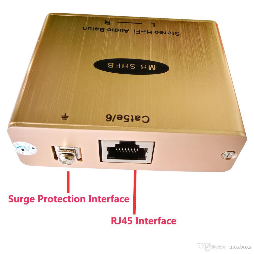 Cat5 Analog RCA AV Ses İzolatör Genişletici Kadar 1 KM Hum Killer Hi-Fi Ses Genişletici