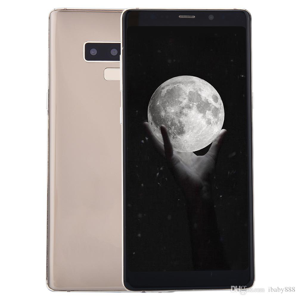 Face ID Goophone Note9 Note 9 V2 1GB 16GB+32GB Fingerprint Android 7.0 6.3 inch Full Screen GPS Show Octa Core 4G LTE 13MP Camera Smartphone