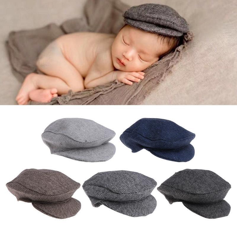 a4f853dfc Cute Baby Newborn Peaked Beanie Cap Hat Baby Boys Girls Photography Prop  0-1M