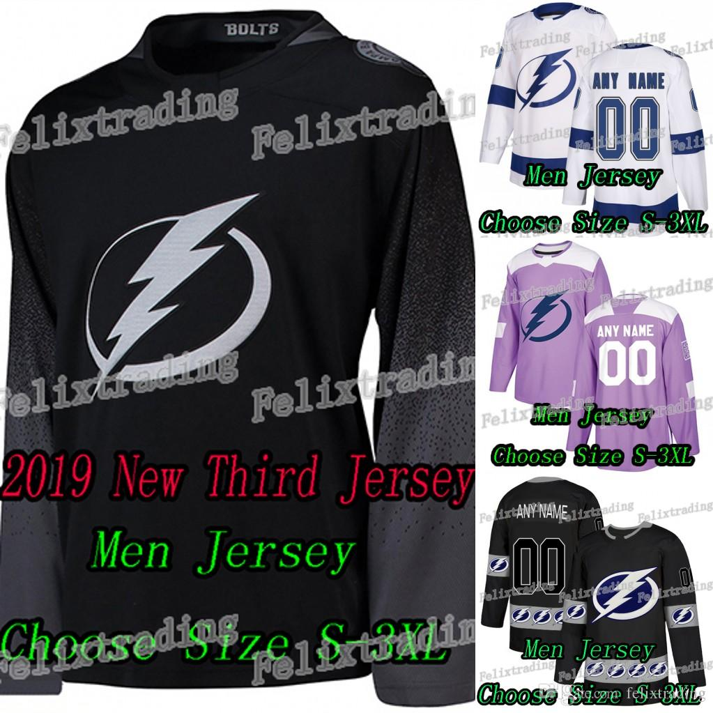 2019 2018 19 New Third Tampa Bay Lightning Andrei Vasilevskiy Steven  Stamkos Nikita Kucherov Victor Hedman Brayden Point Hockey Jerseys From  Felixtrading 0ebc1783843