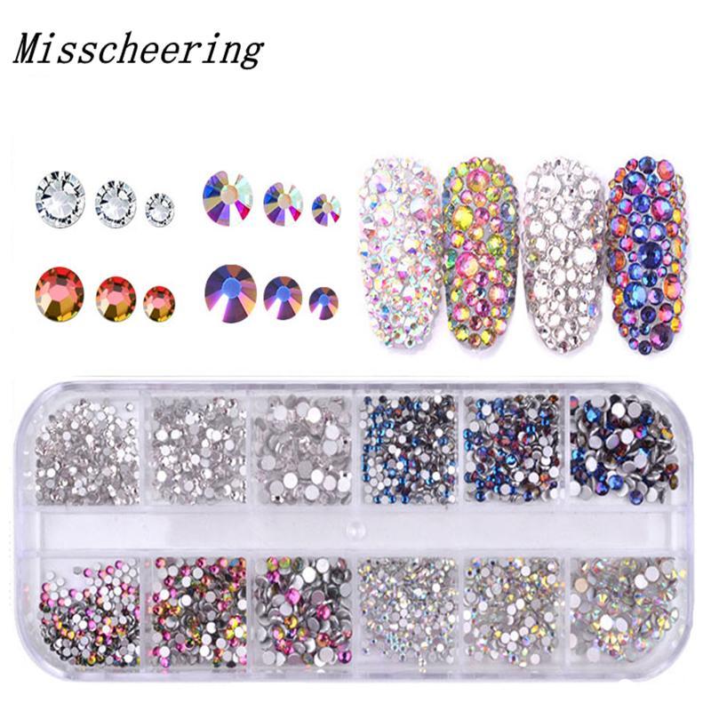 1 Pack Shiny Crystal Nail Art Rhinestone Decorations Mixed Size And ... 96aa4bf365cb
