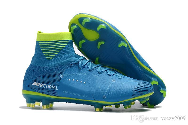 Compre Mercurial Superfly V Dynamic Fit Neymar Fg Zapatillas De Fútbol  Neymar Jr Hypervenom Phantom Ii Njr Azul Verde CR7 High Tokle Soccer Cleats  A  58.22 ... 36699a38c7e3f