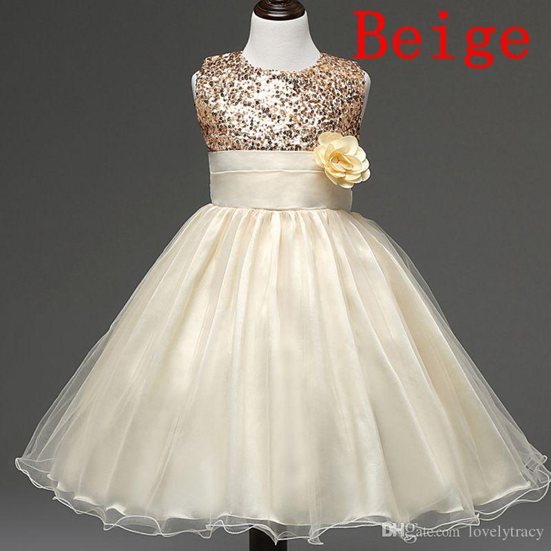Girls Party Sequins Dress Sleeveless Vest Flower Princess Lace Dress Baby Kids Party Wedding Bridesmaid Vestido 2018 Kids Summer Clothing