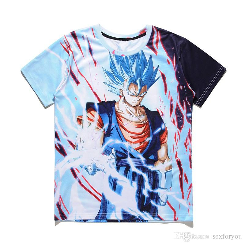 Maglietta 3D Dragon Ball Maglietta 3D Maglietta Cartoon Anime Dragon Ball Stampa T-shirt maniche corte