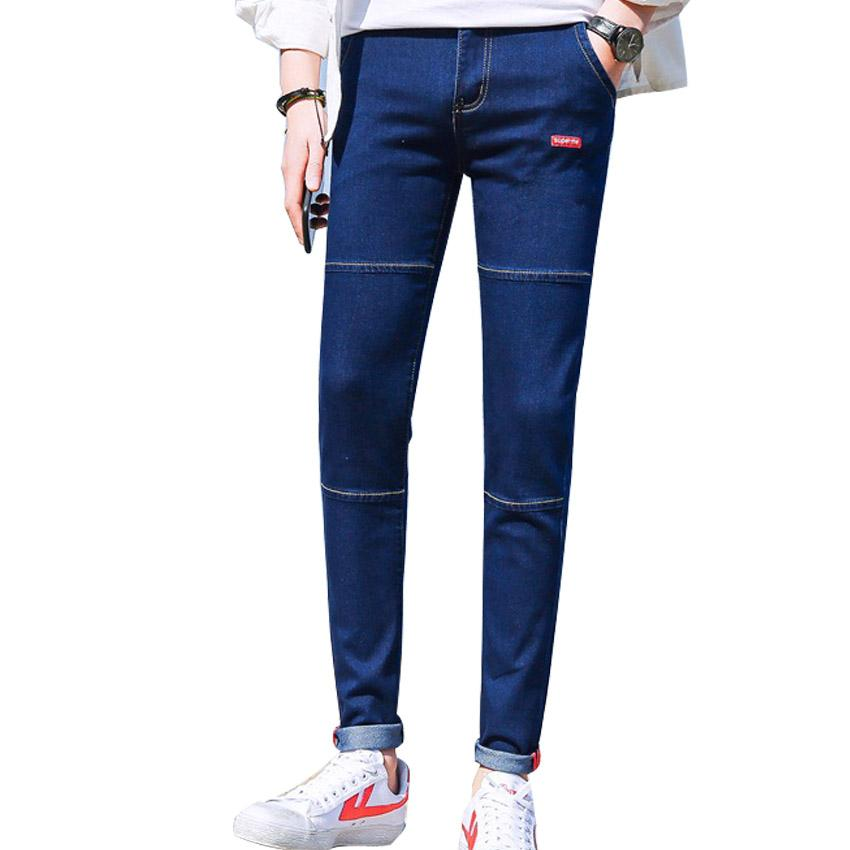 2019 Newest Arrivals Fashion Hot Mens Long Straight Leg Slim Fit Jeans Homme Casual Hole Strech Denim Pants Skinny Jeans To Assure Years Of Trouble-Free Service Men's Clothing