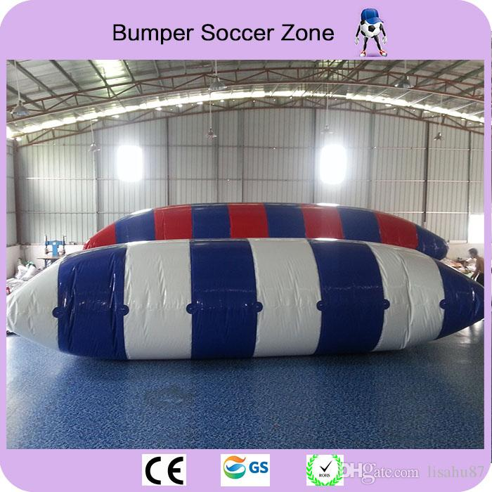 9*3m 0.9mm PVC Inflatable Water Blob Jumping Pillow Water Blob Jumping Bag Inflatable Trampoline With a Pump