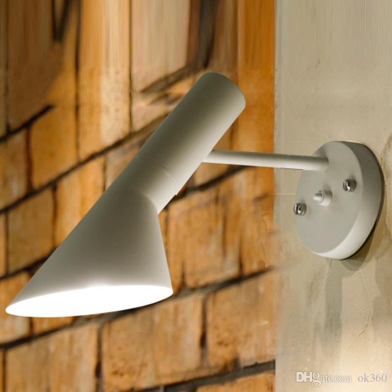 Creative Modern designwall lámparas arne jacobsen aplique réplica Vintage Loft lamp louis poulsen AJ Aplique blanco / negro Iluminación de accesorios