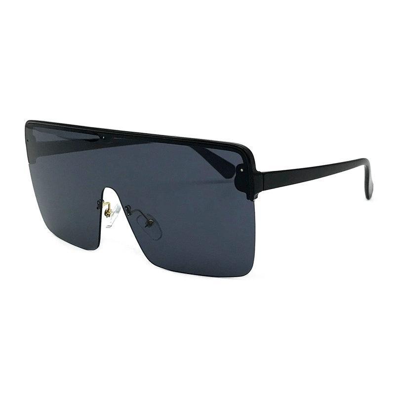 0d3a5a1dc7d49 Compre 2018 Oversized Óculos De Sol Das Mulheres Grande Quadrado Óculos De  Sol Dos Homens Quadro Transparente Retro Vintage Óculos De Sol Feminino  Masculino ...