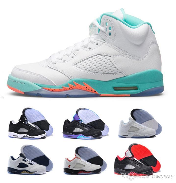 big sale c3961 276f5 Großhandel 2018 Light Aqua Laney 5 MenWomen Basketball Schuhe 5s Low Weiß  Zement OG Schwarz Sport Sneaker Größe 36 47 Von Tracywzy,  57.87 Auf  De.Dhgate.