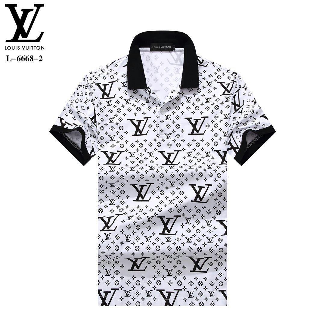 2019 2018 New High End Fashion Mens Short Sleeved Lapel T Shirt