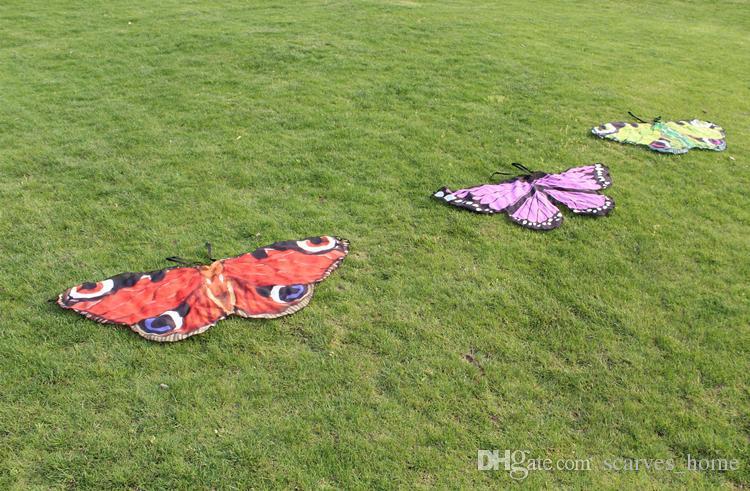 Muchacha de los niños Princesa Capa Hada Alas de Disfraces de Mariposa Monarca Gasa Niños Fancy Cape Dress Festival de Regalo Pixie Cosplay Gasa Bufandas