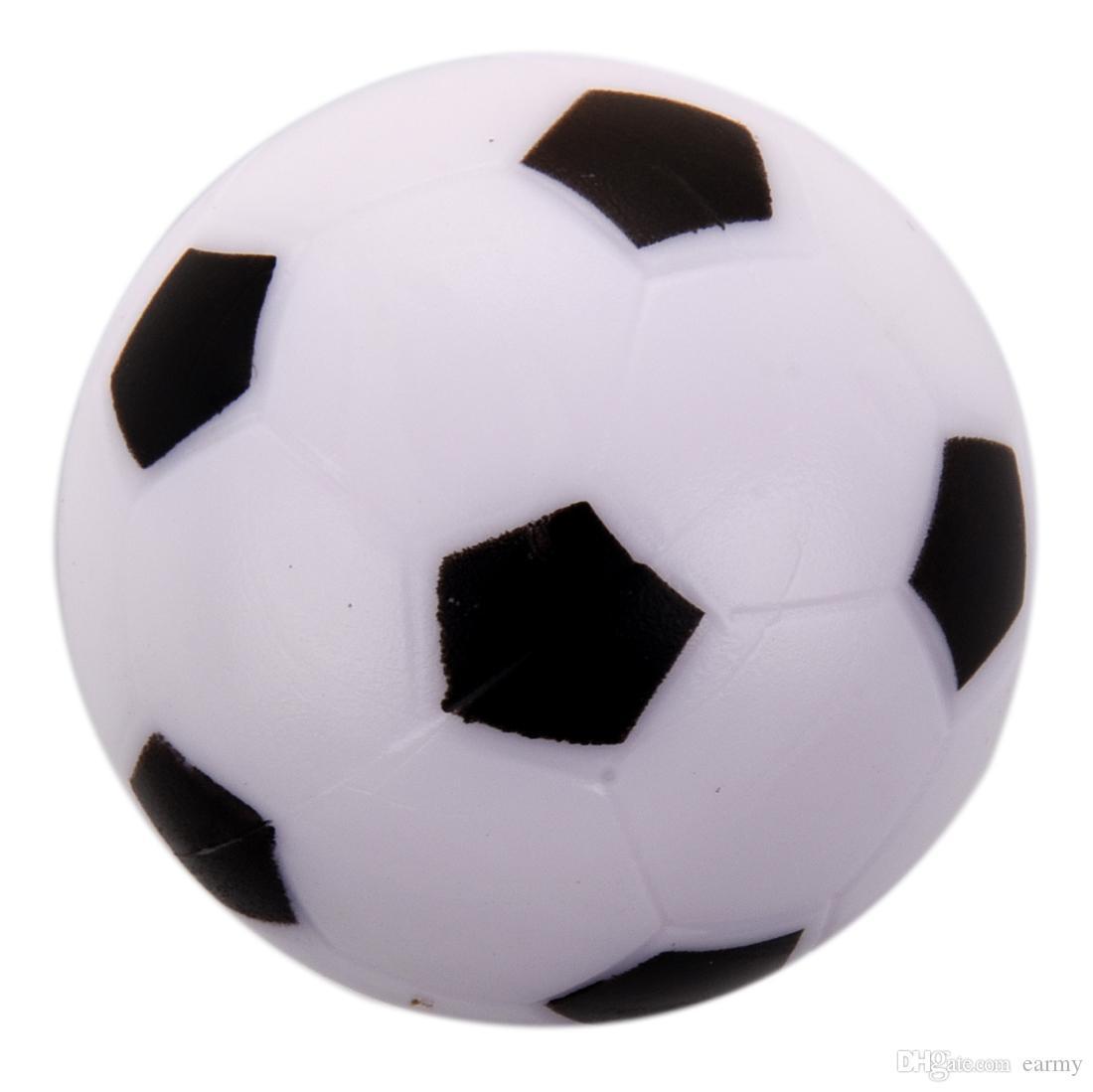 6d5cdd7c0d53d Compre Atacado Pequeno Futebol De Mesa De Pebolim Bola De Plástico Rígido  Homo Logue Crianças Jogo De Brinquedo Preto Branco De Earmy