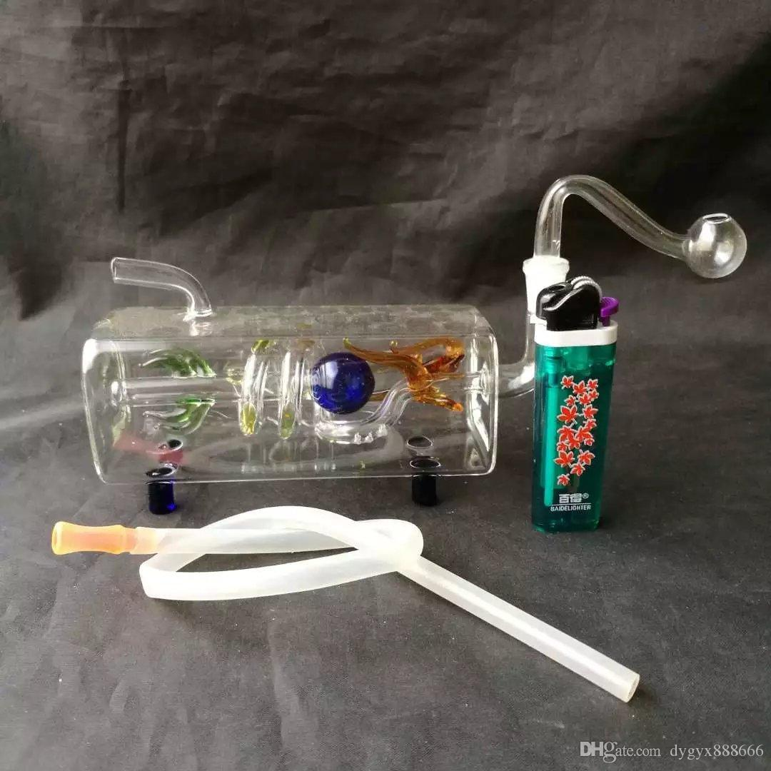 Yeni Panlong nargile boru, Toptan Cam bong Yağı Brülör Cam Borular Su Boruları Petrol Kuyuları Sigara