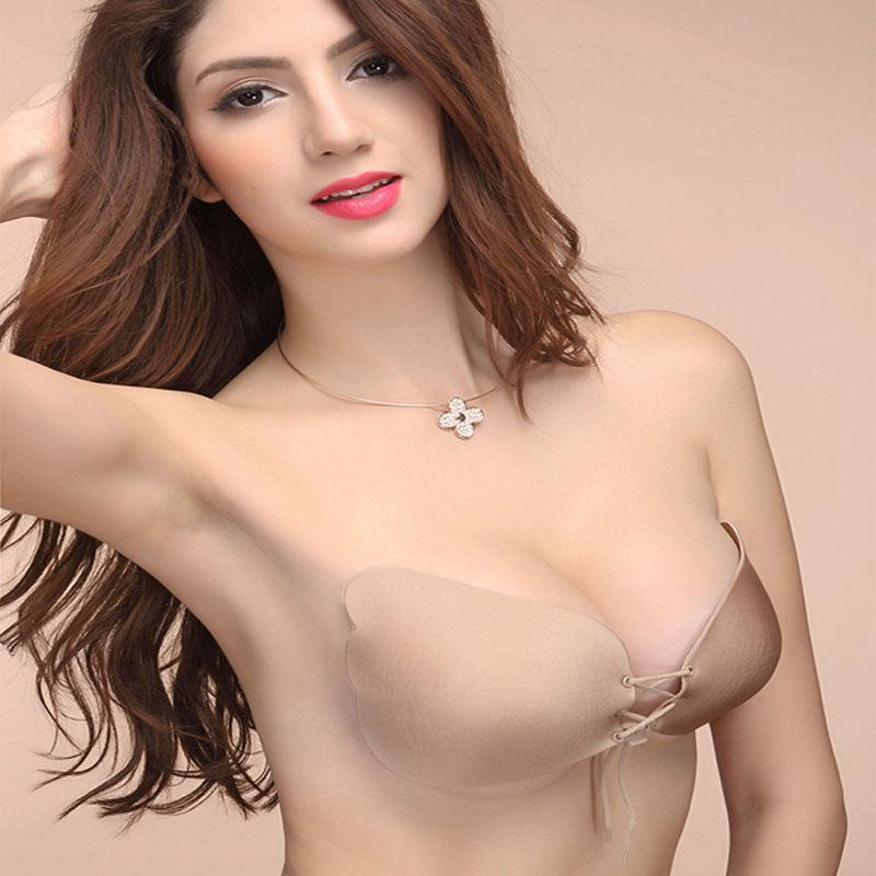 f6d6bb162ceaa 2019 Sexy Self Adhesive Strapless Bra Bandage Stick Gel Silicone Push Up  Invisible Seamless Backless Bra 2 Styles From Clothingdh