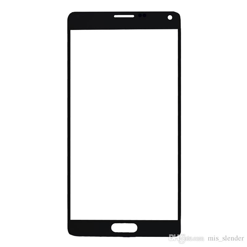"50Pcs For Samsung Galaxy Note4 Note 4 N910F N910C N910G N910H N910U N9100 N910 Front Glass Lens 5.7"" Touch Screen Outer Panel Free DHL"