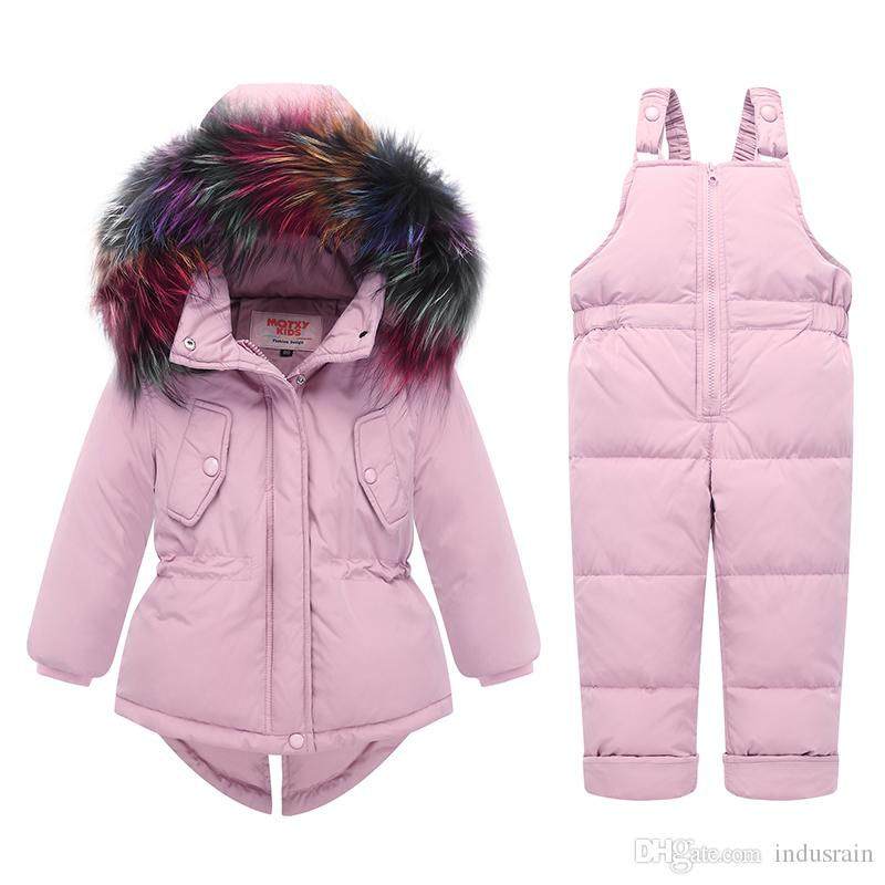 a3a1512c703b Russian Winter Children Clothing Sets Warm Duck Down Jacket For Baby ...