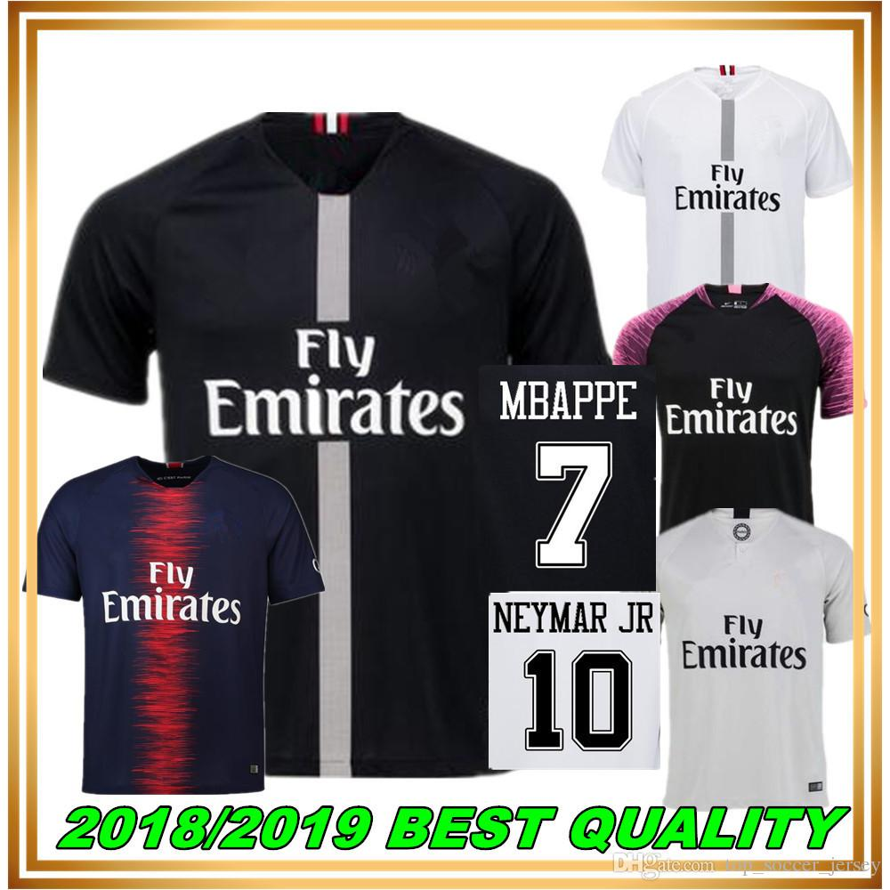 35c25e94d 2019 4XL 2018 2019 Away THIRD PARIS MBAPPE DI MARIA SOCCER JERSEYS 18 19  VERRATTI MATUIDI CAVANI ZLATAN MAILLOT DE FOOT PSG Champions League From ...
