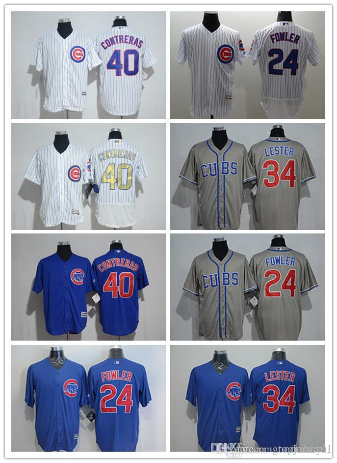 3e6bed57e 2018 Custom Men Women Youth Majestic Cubs Jersey  34 Jon Lester Home ...