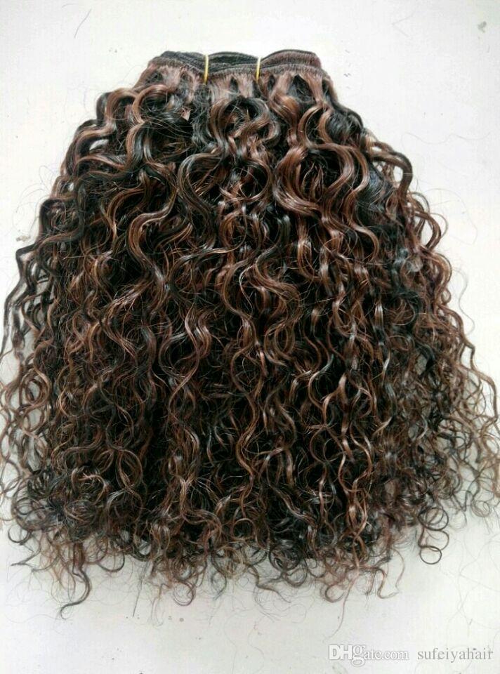 البرازيلي العذراء الإنسان ريمي الشعر الأسود الطبيعي 1b # ميكس متوسط البني 4 # لحمة الشعر شعر الإنسان ملحقات ضعف الانتباه