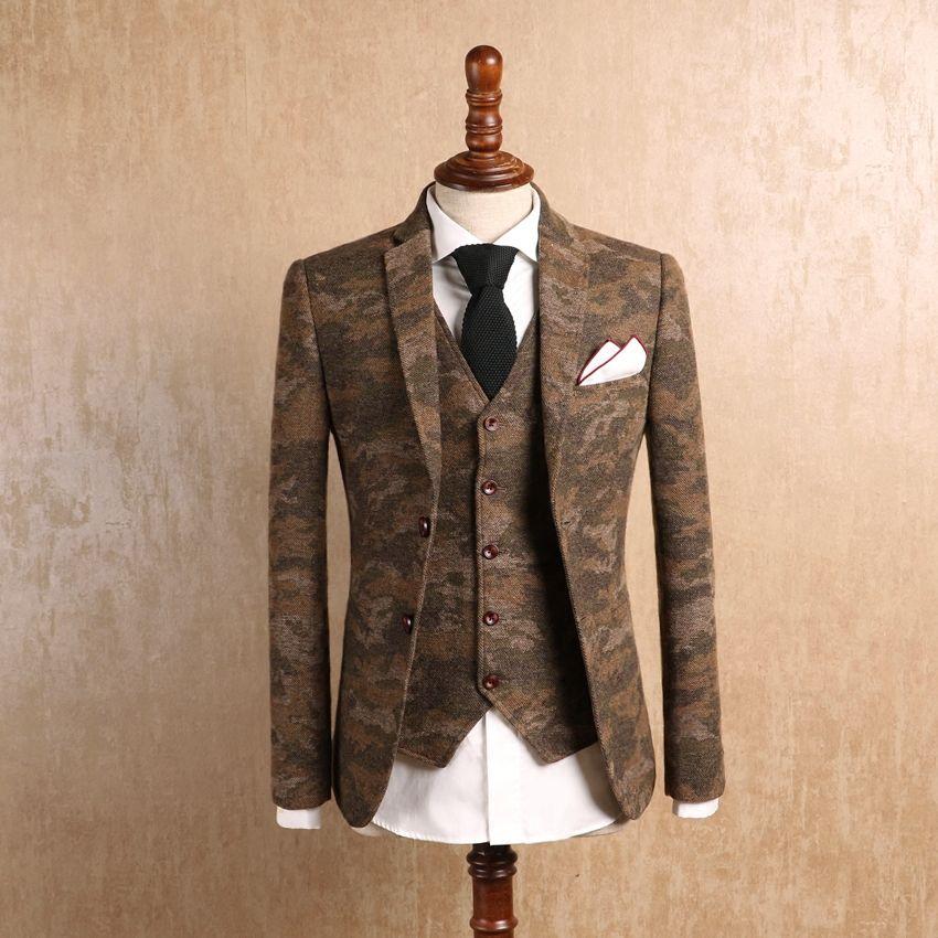 Beaux 2018 Smoking Trois Hommes Veste Costumes Acheter Pièces Pour ASq5w11