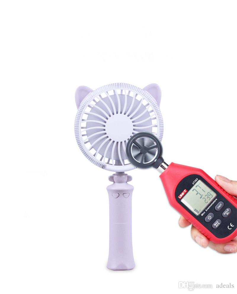 Mini Folding Portable Fan Cartoon Cat USB Rechargeable Foldable Handheld Summer Air Cooler Cooling Fan Portable Fan