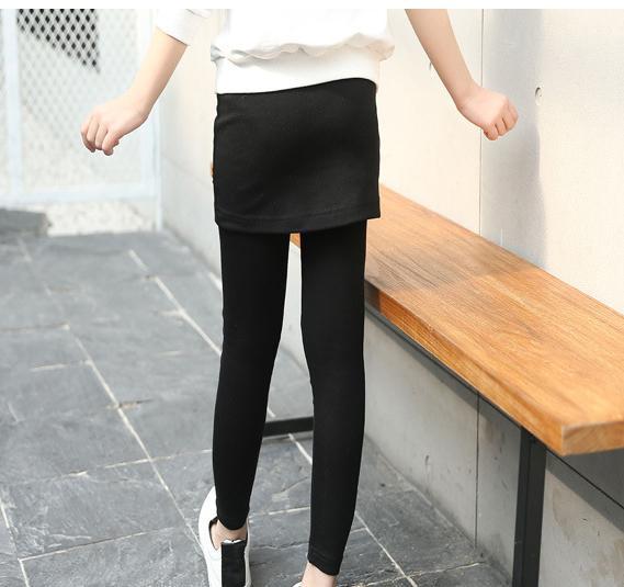 Skinny Pants for Girls Cotton Trousers Kids Autumn Leggings Children Spring Slim Pants 8 9 10 12 Years Girl Pants Skirt Leggings
