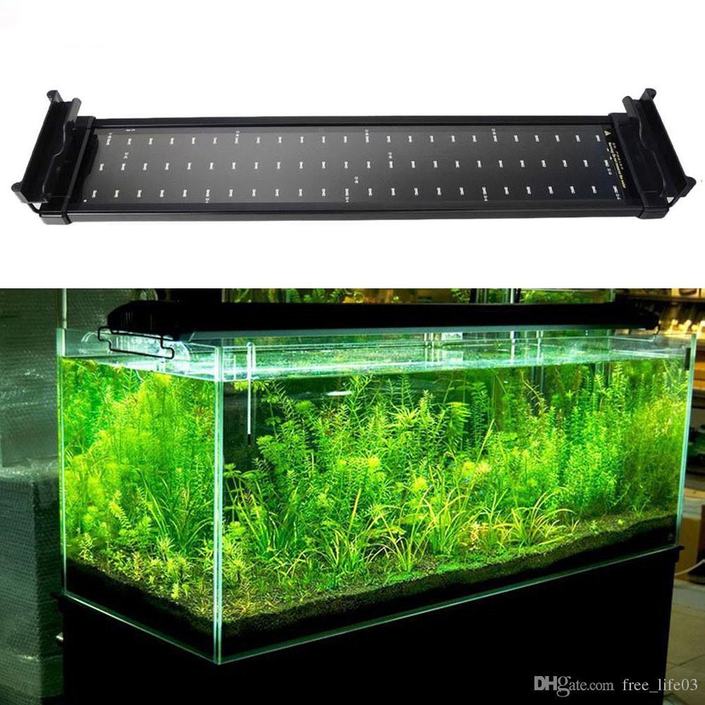 Großhandel 11W Aquarium Aquarium LED Beleuchtung 50CM 70CM Erweiterbar  Rahmen Lampe SMD 72 Leds Weiß + Blau 2 Modi Mit EU / US / UK Stecker  Adapter Von ...