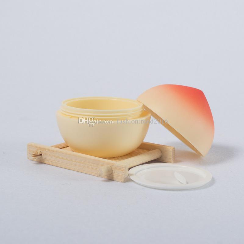 30G Tarro de crema Caja de embalaje de plástico vacía Contenedor cosmético Forma de fruta Contenedor de crema Cosmetc con tapa