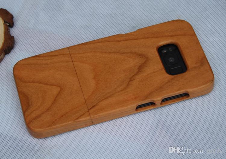 100٪ ريال الخشب القضية لسامسونج غالاكسي s8 غطاء الهاتف s8 زائد الطبيعة الفاخرة خشبية الخيزران الصلب عودة حالات ل samusng s8 s8plus