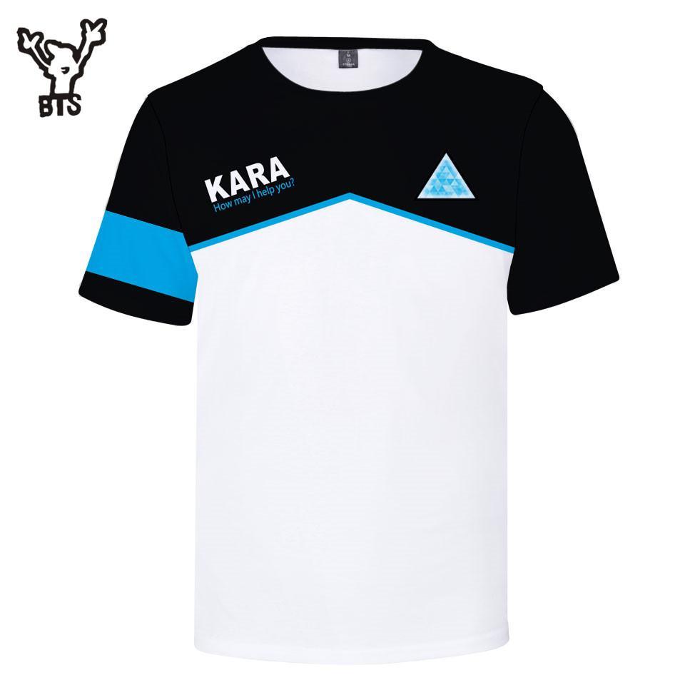 Bts Hot Sale 3d Detroit Become Human T Shirt Kawaii Tshirt Women