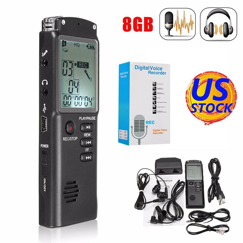 Unterhaltungselektronik Eine Taste Spionage Professionelle Versteckte Voice Recorder Micro Mini Diktiergerät Aufnahme Gerät Digital Audio Voice Recorder