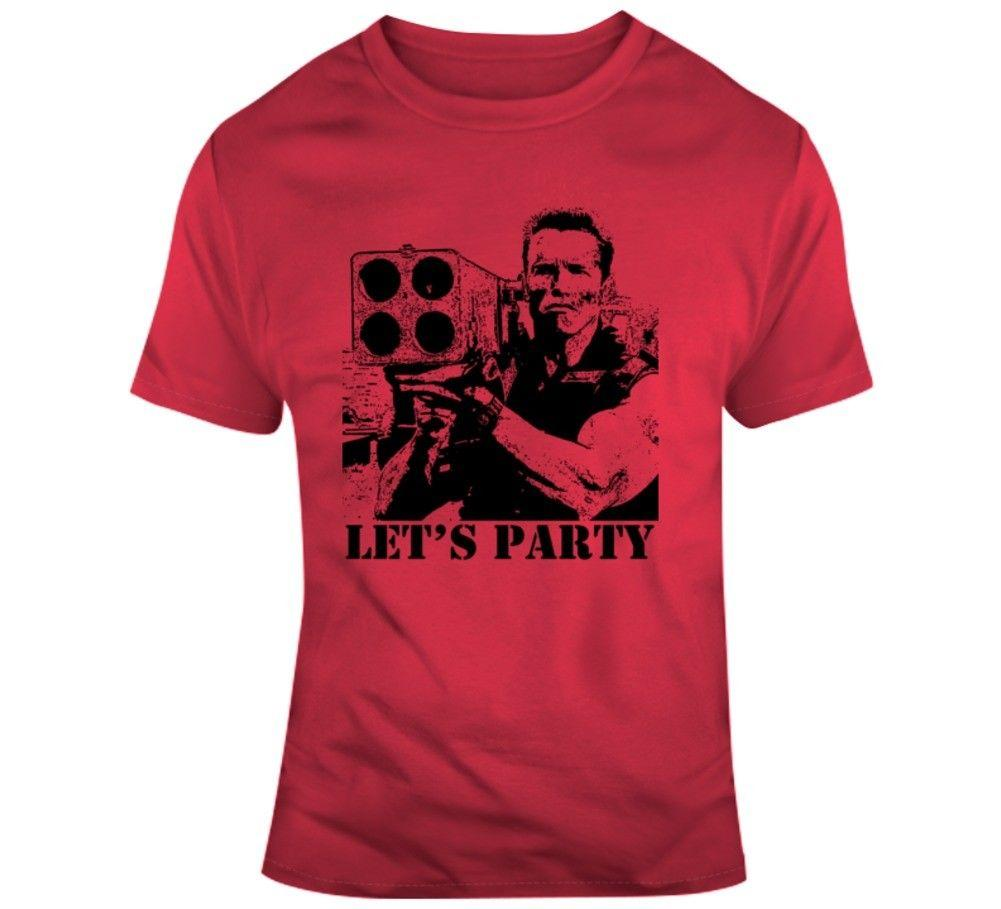 Commando Arnold Schwarzenegger Movie Quote Lets Party T Shirt