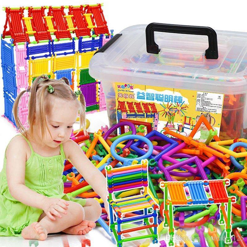 Atacado Crianças Puzzle Brinquedos para Crianças Vara De Construção De Plástico Haste Mágica DIY Brinquedos Educativos Melhorar A Criatividade Diy Blocos