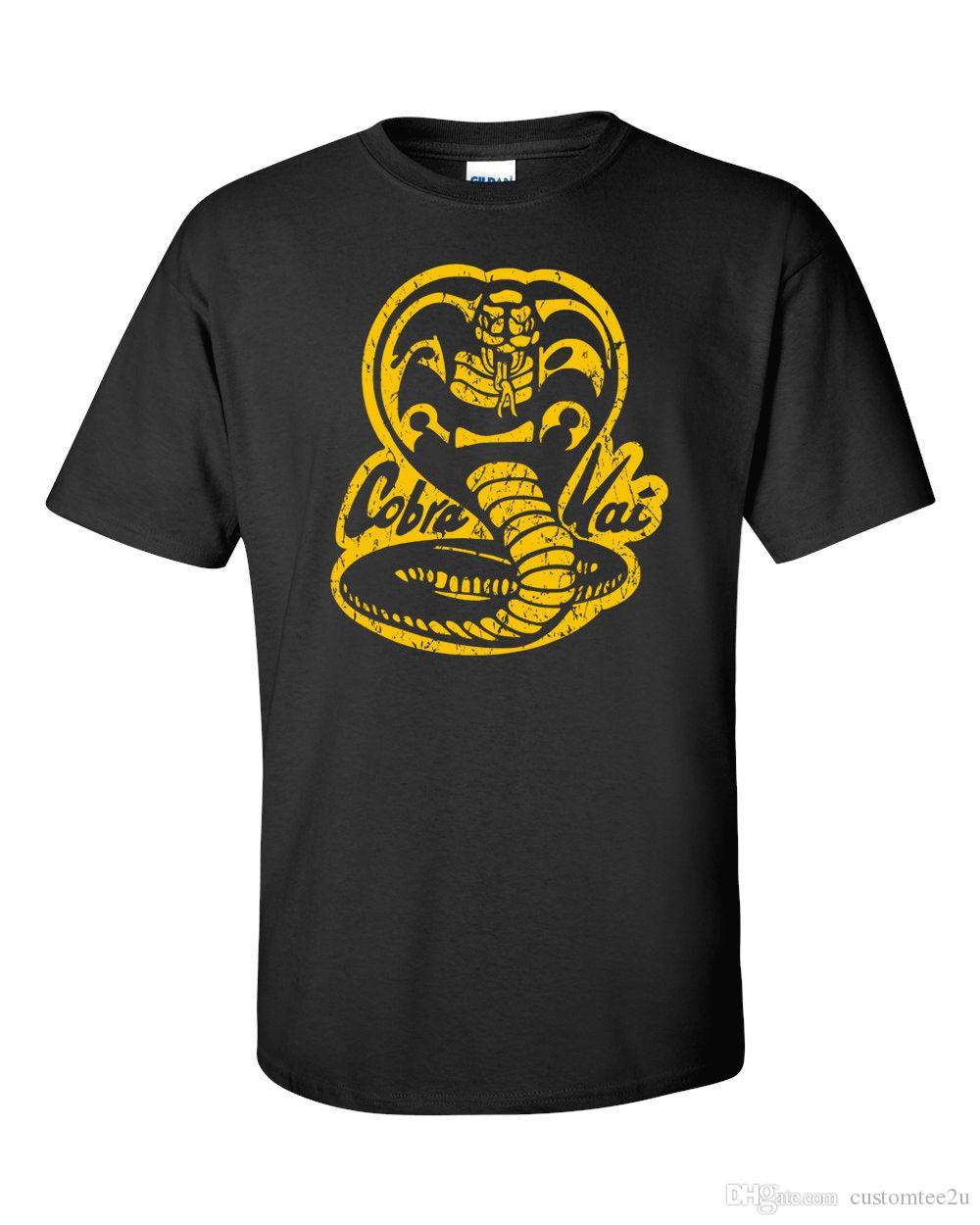 d0d0dbd5 Cobra Kai T Shirt Karate Kid 80S Classic Movie Vintage No Mercy Adult Sm  3Xl T Shirt Men Vintage Short Sleeve Cotton Custom Big Size Couple Random T  Shirts ...