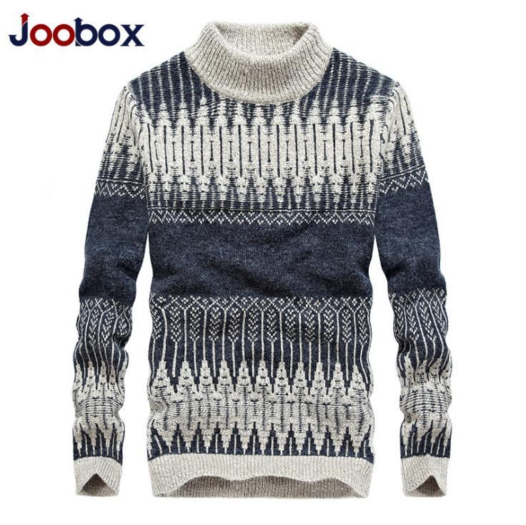 hot sale online 5eb25 594fb Maglione a collo alto Maglione di lana invernale caldo Slim Fit Moda  Pullover Knittwear Mens Maglioni Pullover