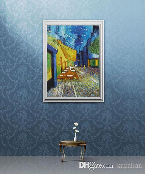 dcb2d8bc3a1 2019 Vincent Van Gogh Cafe Terrace At Night High Quality Art Posters Print  Wallpaper Photo Paper 16 24 36 47 Inches From Kapalian