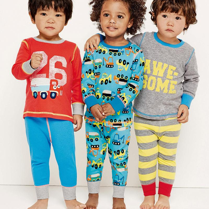 8d746b59903e Autumn Spring Boys Pajamas Long Sleeve Cotton Pajamas Sets