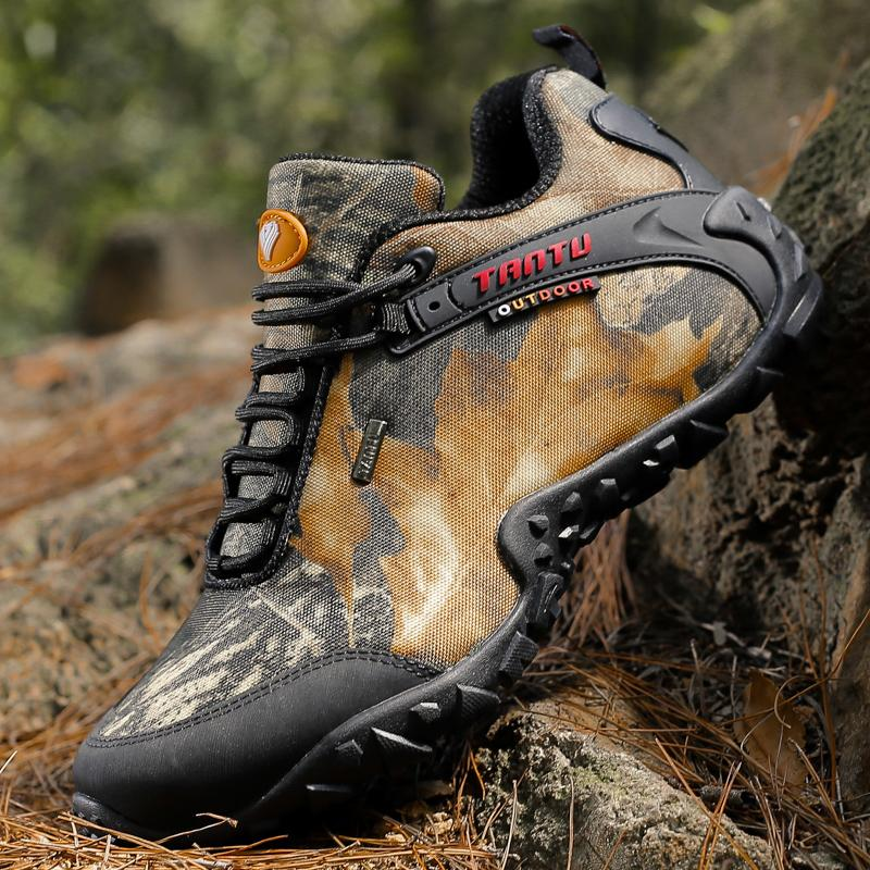 5016bc155062e Mens Waterproof Hiking Shoes Nice Antislip Athletic Trekking Boots  Camouflage Sports Climbing Shoe Man Outdoor Walking Sneakers Us 12
