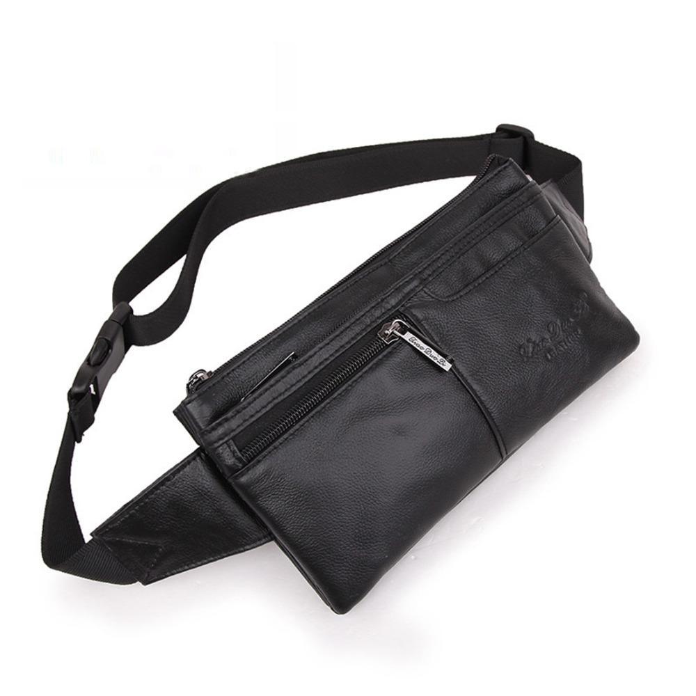 a73d810af6e7 Men Genuine Leather Vintage Cell/Mobile Phone Cover Case skin Hip Belt Bum  Purse Sling Chest Fanny Pack Waist Bag Pouch