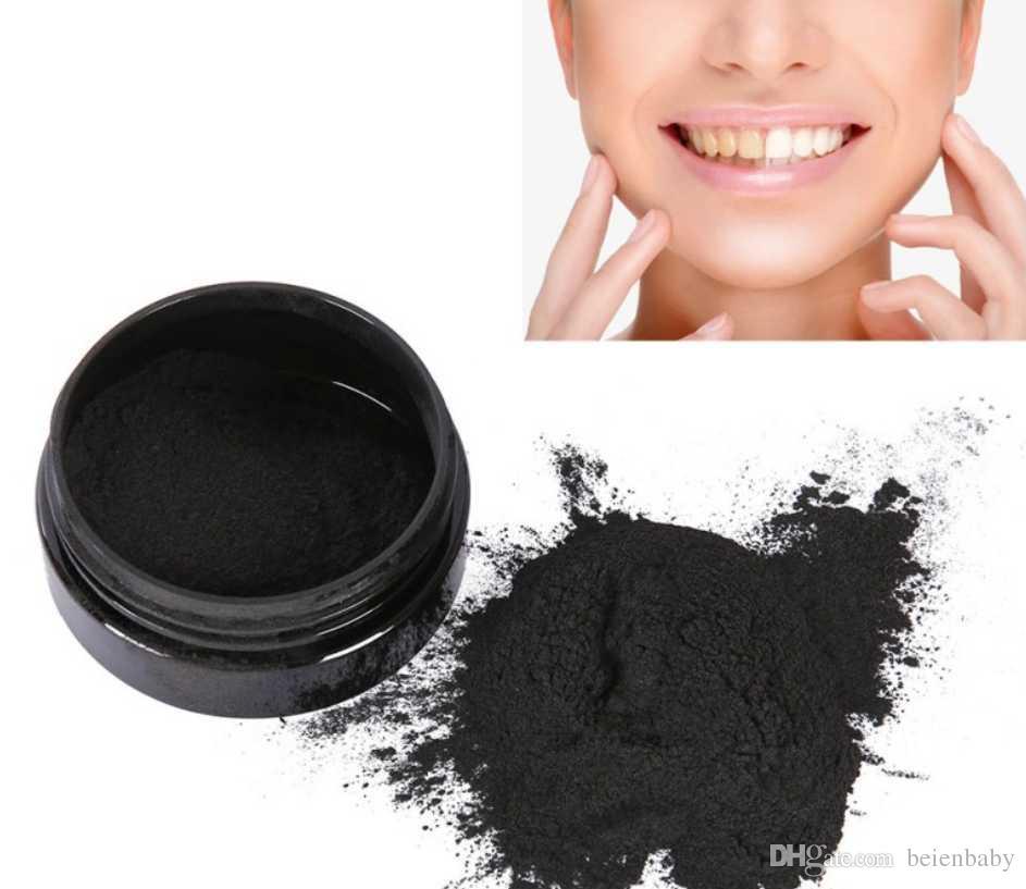 100% naturale carbone attivo vegetale che imbianca polvere che rimuove il fumo tè caffè macchie gialle alito cattivo cura orale con pennello