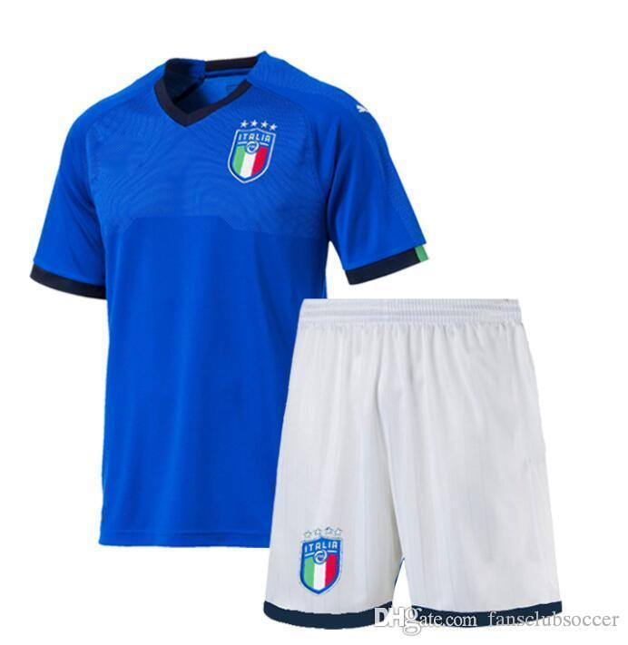 602d1880c 2019 2018 Italy Kids Kits Soccer Jersey 17 18 WC National Team CANDREVA  CHIELLINI EL SHAARAWY BONUCCI INSIGNE IMMOBILE Children FOOTBALL SHIRTS  From ...