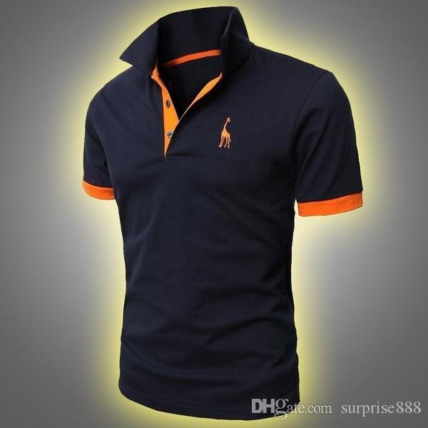 2aa65deec65dc 2018 Summer Men S Polo Shirt Men Creative Solid Color Short Sleeve Lapel  Polo T Shirt Casual Slim Fit Short Sleeve Shirt M XXXL Cool Team Shirts  Crazy Shirt ...