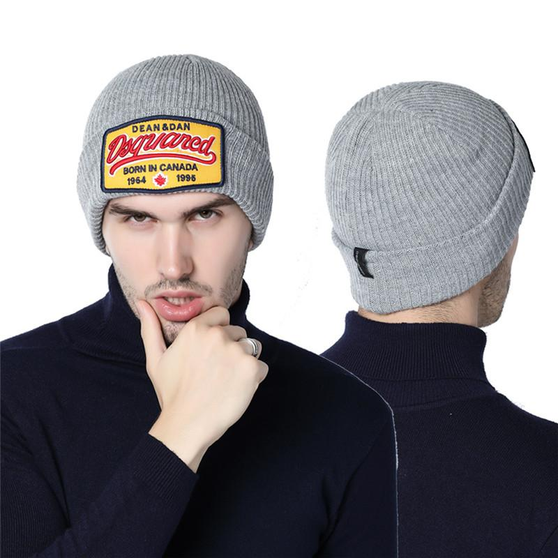 2018 New DS2 Skull Cap Knitted Beanies Hat Winter Warm Cap Men s ... a08a8765617a