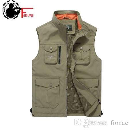 tout neuf fcdad 433a3 Gilet tactique hommes automne gilet militaire nombreuses poches sans  manches veste mâle taille plus 4XL Gilet Homme armée vert bleu