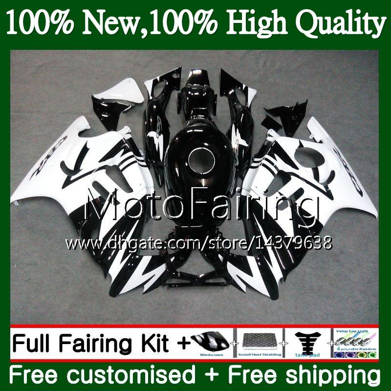 Cuerpo negro blanco para HONDA CBR600 F3 CBR600RR F3 CBR600FS 95 96 47MF19 CBR 600F3 FS CBR600F3 CBR 600 F3 1995 1996 Kit de carrocería para carenado