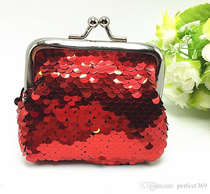 New Sequin Mermaid Hasp Coin Purse Mermaid Glitter Handbag Evening Wallet Women's Pouch Chirstmas Gifts
