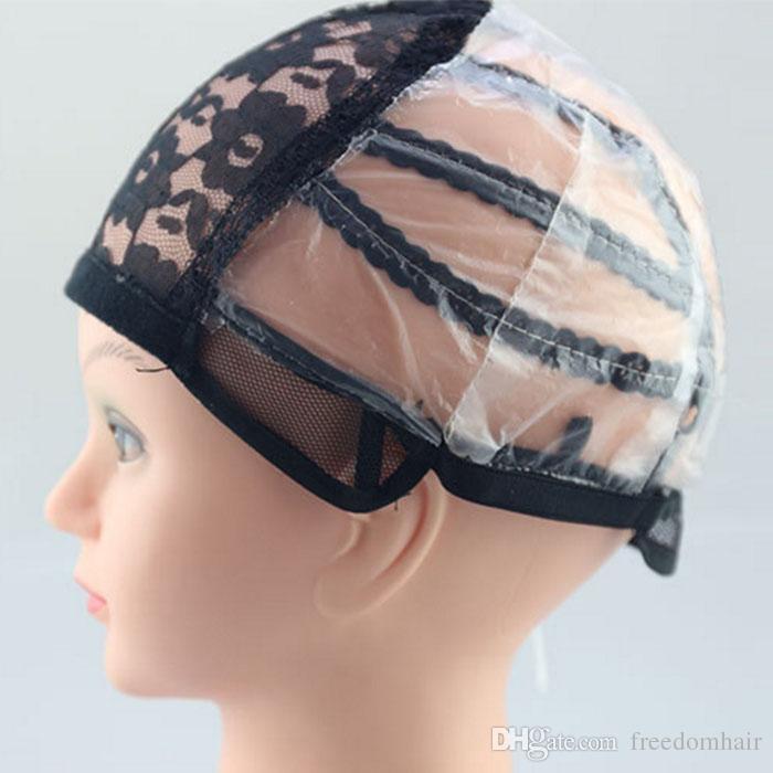 Chapeaux pleins de perruque de lacet avant pour faire le filet net de PAC de taille moyenne de bretelles dans des prolongements